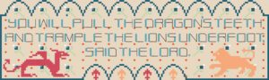 Dragon's Teeth cross stitch pattern