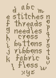cross stitch alphabet and poem