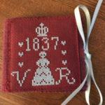 Victoria needlecase in cross stitch