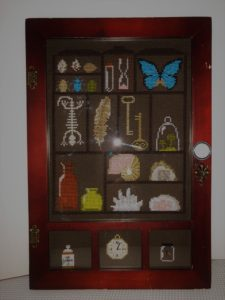 cabinet of curiosities cross stitch