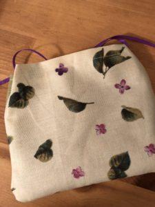 lavender sachet back floral fabric